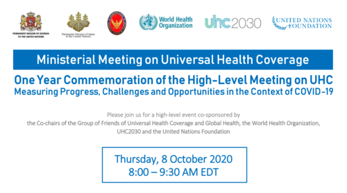 Ministerial meeting on universal health coverage