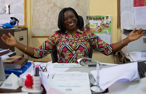 Health Worker celebrates in Ghana home page