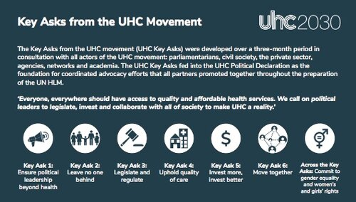 What did leaders commit to in the political declaration on UHC?