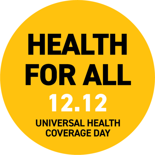 Health For all UHC DAY logo